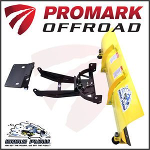 """Yamaha Rhino Snow Plow Kit with 66"""" Blade by Eagle Made in USA"""