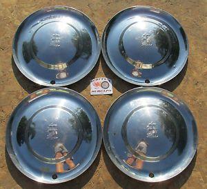 "1953 Plymouth Belvedere Cranbrook Cambridge Savoy 15"" Wheel Covers Hubcaps"