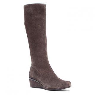 Aetrex Vanessa Tall Wedge Boot  Women's   Grey Suede