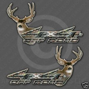 4x4 Mule Deer Hunting Decals Titan Tundra Tacoma