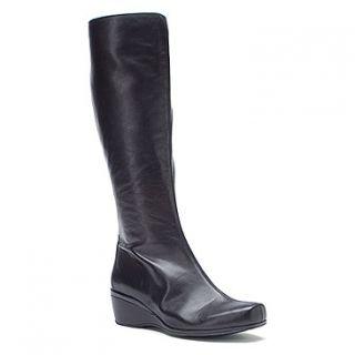 Aetrex Vanessa Tall Wedge Boot  Women's   Black Leather