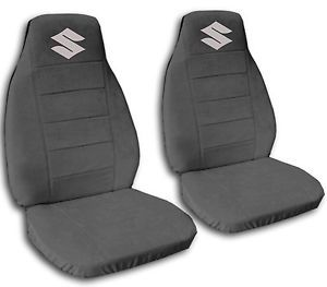 Nice Suzuki Samurai Charcoal Cotton Front Car Seat Covers with s Logo More Avbl