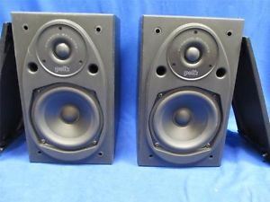 Polk Audio RT25 Bookshelf Loudspeakers Stereo Speakers Pair Nice Set
