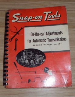 Snap on on The Car Adjustments for Automatic Transmissions Service Manual GA 164
