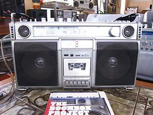 Crown CSC 980 Vintage Ghettoblaster Boombox w Original User Manual Fully Func
