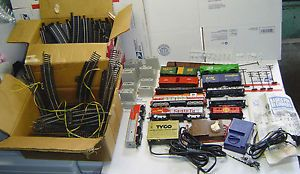 Lot of HO Scale Engines Trains Track Transformers Tyco Bachmann Life Like More
