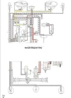 Volkswagen Wiring Diagram for Karmann Ghia 61 63 VW