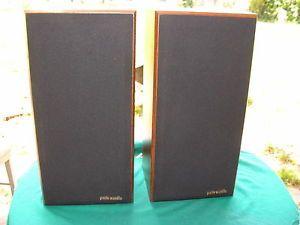 Pair Polk Audio Speakers Bookshelf Very Nice Vintage