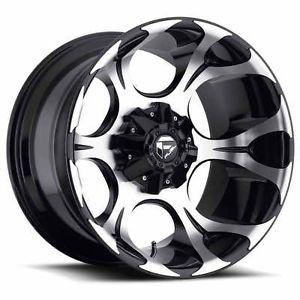 "20"" Fuel Dune Black Wheels Toyo AT2 Tires 6x5 5 6x135 6 Lug Chevy GM Ford Truck"