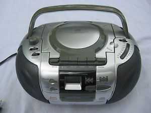 Emerson Portable Stereo Boombox CD Player Cassette Radio