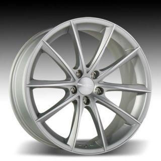 "22"" Ace Convex Wheels Silver BMW 6 Series 645 650 M6 E63 E64 Staggered Concave"
