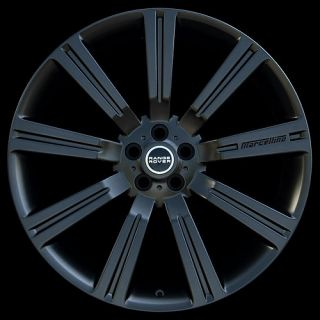 """24"""" inch Matte Black Wheels Rims Tires Package Land Rover Range Rover HSE 4 New"""