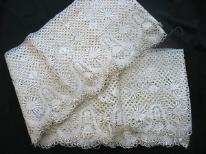 7 Yards Broad Vintage Lace Edging Trim Border Crochet Victorian Handmade