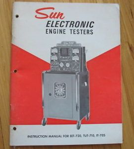 Vintage Sun Electronic Engine Tester Manual for EET 720 Tut 710 It 705 Model