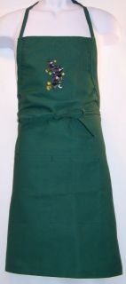 """Halloween Witches Flying on Brooms Embroidered 24"""" or 30"""" Kitchen Witch Apron"""