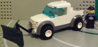 Lego City Custom Snow Plow Pickup Truck Includes Minifig Bonus Free US SHIP