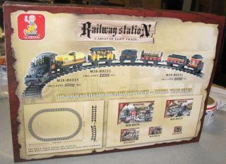 Sluban Building Blocks Railway Station Cargo Bullet Train 255 PC Set New Legos
