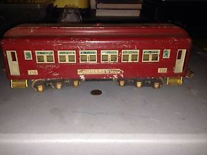 Antique Vintage Pre War Lionel Train Pullman 710 Car 1931 32 O Scale Red