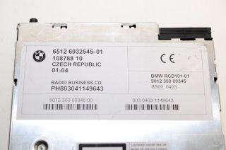 BMW E83 E85 E86 x3 Z4 Business CD CD53 Player Radio Stereo 01 2004 65126932545