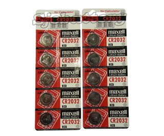 10pc Genuine Maxell CR2032 2032 Lithium Button Coin Cells Batteries Battery 3V