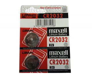 2pc Genuine Maxell CR2032 2032 3V Lithium Button Coin Cells Batteries Battery