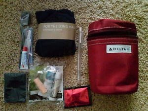 Delta Airlines Business First Class Flight Amenity Kit