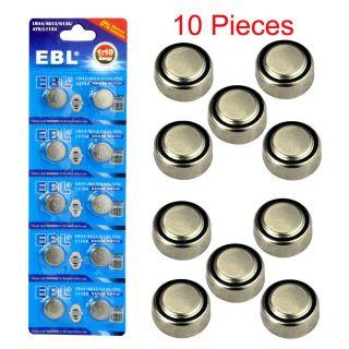 10x LR44 A76 L1154 AG13 357 357A SR44 303 1 5V Alkaline Button Coin Cell Battery