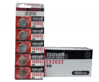 100pc Genuine Maxell CR2032 2032 3V Lithium Button Coin Cells Batteries Battery