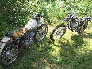 2 76 Vintage AMF Harley Davidson Motorcycles for Parts Restore Project SX SS 250