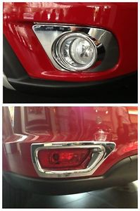 ABS Chrome Front and Rear Fog Light Cover Trim for 2013 Dodge Journey