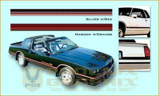 1985 1986 Chevrolet Monte Carlo SS Super Sport Decals Stripes Kit