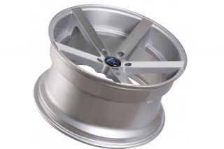 """20"""" Nissan 350Z Rohana RC22 Deep Concave Silver Staggered Wheels Rims"""