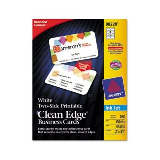 Avery 88220 Clean Edge Inkjet Business Cards Business Cards AVE88220