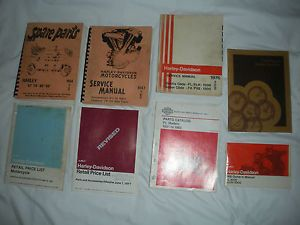 Vintage Harley Davidson Service Manuals Parts Catalogs 1940's 1980'S