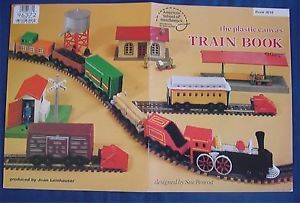 Plastic Canvas Pattern Book Train Book O Gauge Engine Caboose Wheels Cattle Car