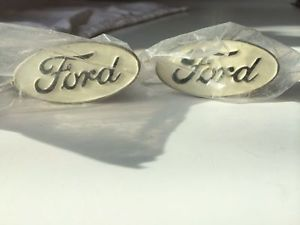 "1929 34 Ford Emblem Tool Box Handle White Set"" Snap on Door Pulls Ford Licensed"