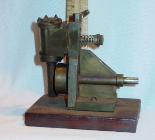 Old Small Simple Brass Oscillating Steam Engine Model