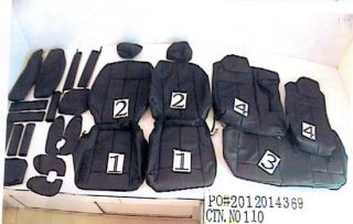 Nissan Altima Power 2007 2012 Black Ebony Leather Replacement Seat Covers