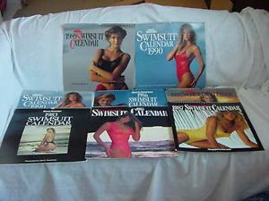 Huge Lot of Vintage Sports Illustrated Swimsuit Calendars 1983 1990