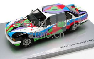 BMW 730i E32 Art Car New in Box 150932  1 18 Minichamps Diecast Car Model