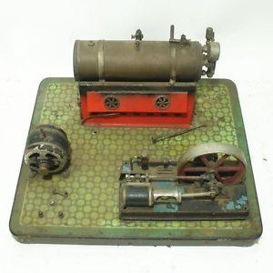 Huge Antique Live Steam Engine Model Electric Generator Motor Toy Dampfmaschine