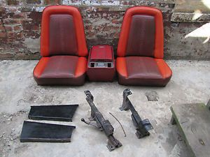 1967 72 Chevrolet C10 Truck Bucket Seats and Console Scroll Pattern