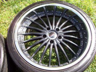 20 MHT Forged 2 Piece Wheels Black BMW 740 745 750 760 E38 E65 E66 Tires Package