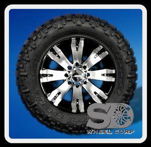 """20"""" x 9"""" DIAMO 8 Karat Wheels with 35x12 50x20 Nitto Trail Grappler Tires Rims"""