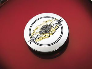 Harley Davidson Fuel Cap Medallion The Flames Collection Sportster 99668 04