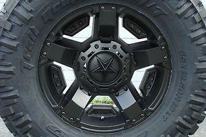 "17"" XD Rockstar 2 Rsii Wheels Black 35x12 50R17 Nitto Trail Grappler Tires 17x9"