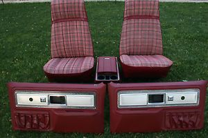 1977 1987 Chevy GMC Truck Front Seats Blazer Jimmy Silverado Sierra 83 84 85 86