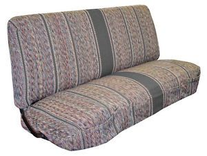 Grey Saddle Blanket Seat Covers for Small Truck Straight Bench Seats
