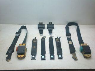 74 81 Camaro Firebird Original Black Seat Belts Front Belt Complete Set