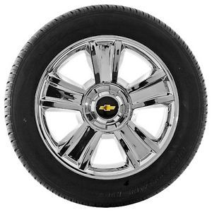 "NEW Chevy Silverado  Tahoe Chrome 20"" Factory OEM Wheels Rims HOLLANDER 5416"